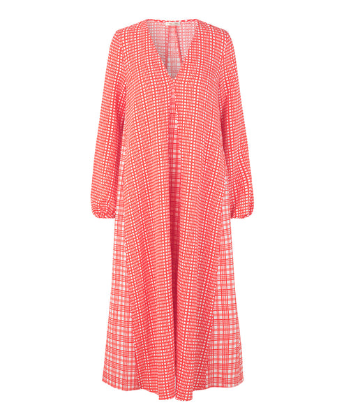 Stine Goya Leila Dress Plaid Gingham Print