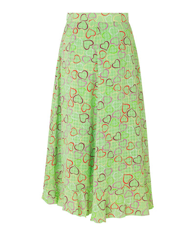Stine Goya Marigold Skirt Hearts Green