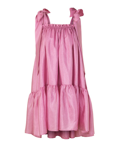 Stine Goya Serena Bow Strap Dress Pink