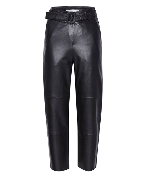Gestuz - Storia Black Leather Trousers - Studio B Fashion
