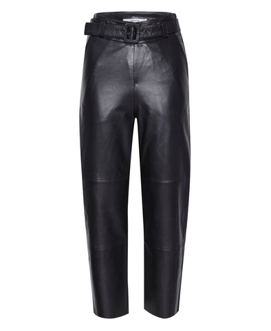 Storia Black Leather Pants