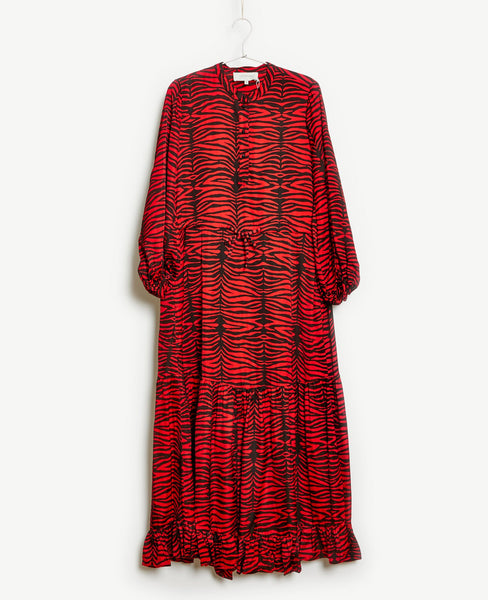 Munthe - Munthe Karma Dress Red Zebra Print - Studio B Fashion