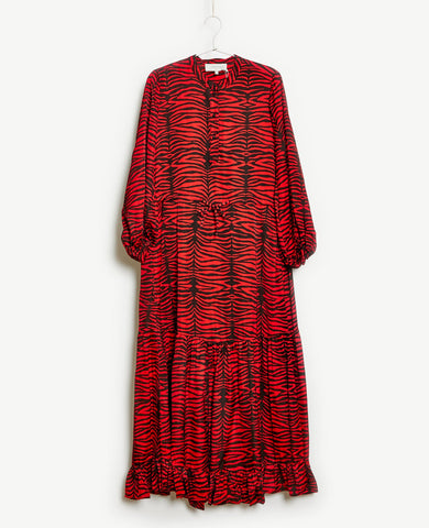 Munthe Karma Dress Red Zebra Print