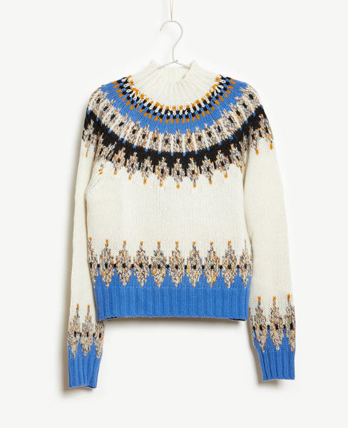 Stine Goya- Justin Knit Turtleneck Sweater Fair Isle -Studio B Fashion