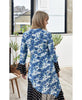 Luna Blue Diana Floral Mono Spot Dress