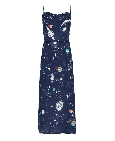 Tessa Cosmic Constellation Silk Cami Dress