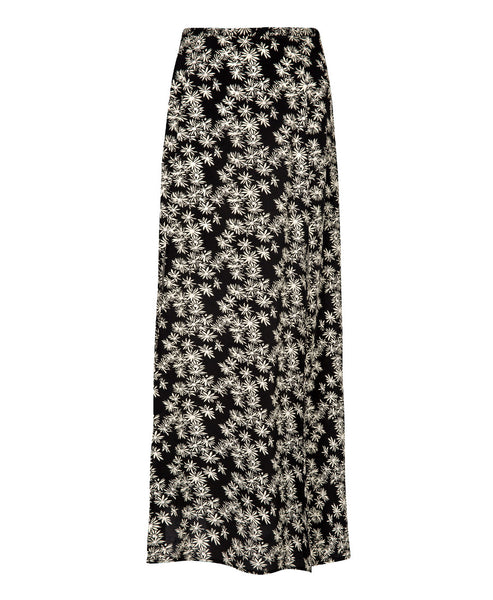 Thalia Black Daisy Dream Midi Skirt