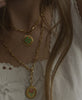 Wilhelmina Garcia - Gold Clover Necklace - Studio B Fashion