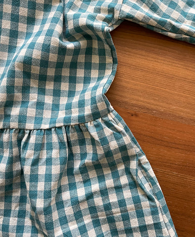 April meets October May Dress Turquoise Gingham
