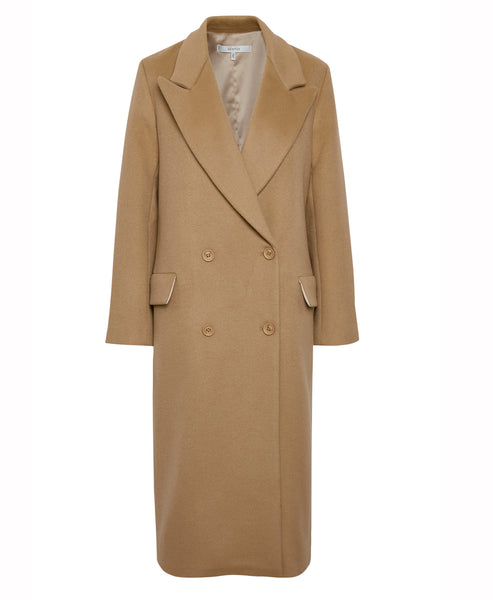 Gestuz - LeaGZ Camel Double Breasted Wool Coat - Studio B Fashion