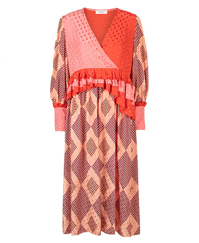 Hofmann Chloe Rosecloud Print Dress