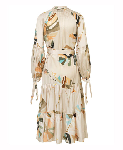 Munthe Hooligan Beige Print Wrap Dress