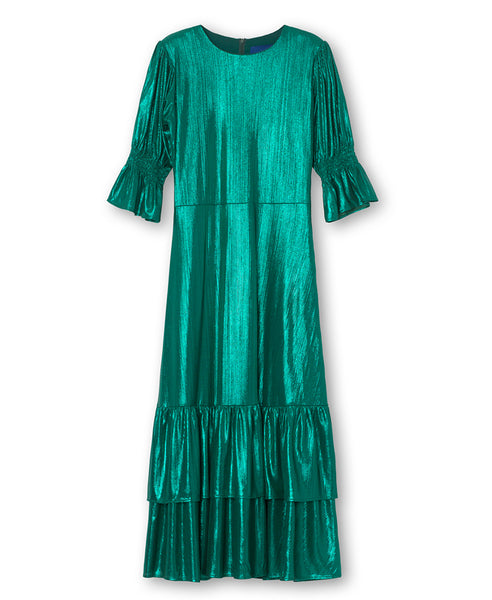 Résumé Copenhagen. Brigitte Dress Metallic Green. Studio B Fashion. Resume dress like the Vampire's Wife dress