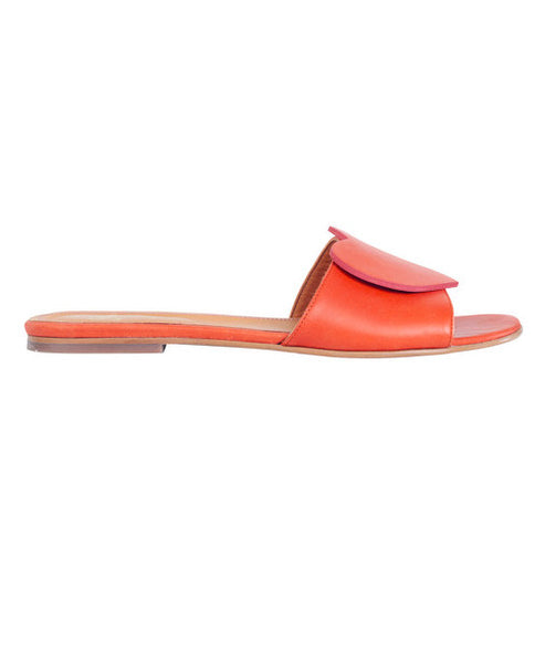 Stine Goya - Amina Sandals Mandarin Matte Leather - Studio B Fashion