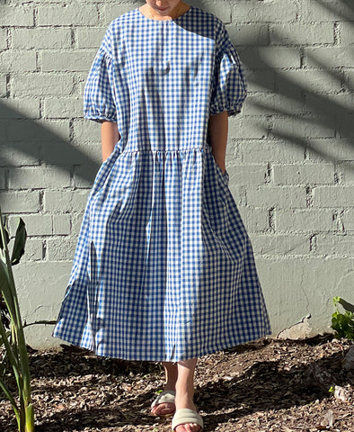 April meets October Summer May Dress Blue Gingham