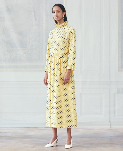 Baum und Pferdgarten - Alitha Lemon Polka Dot Dress - Studio B Fashion