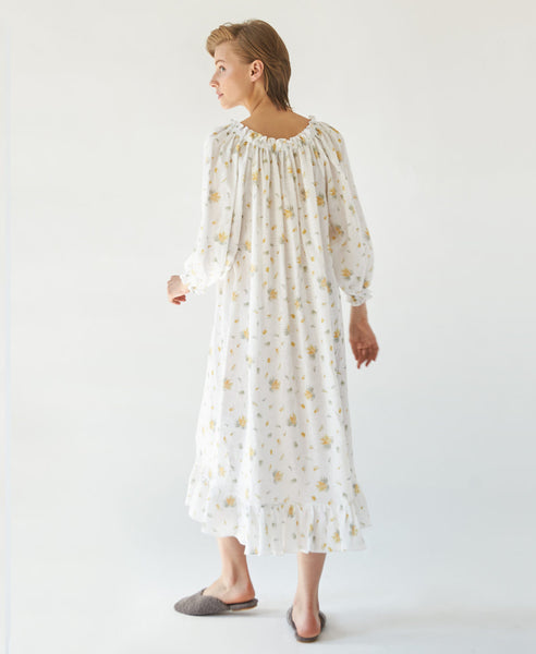 Sleeper. Loungewear Dress in Mimosa Print. Studio B Fashion