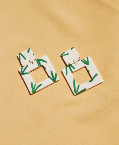 Palm Print Square Patch