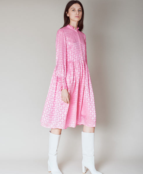 Baum und Pferdgarten-Agacia Midi Dress Pink Carnation-Studio B Fashion