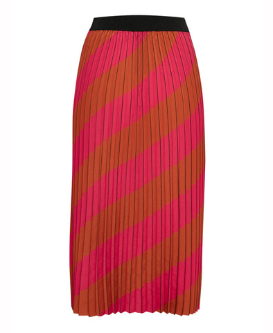 Gestuz Pink Stripe Pleat Skirt