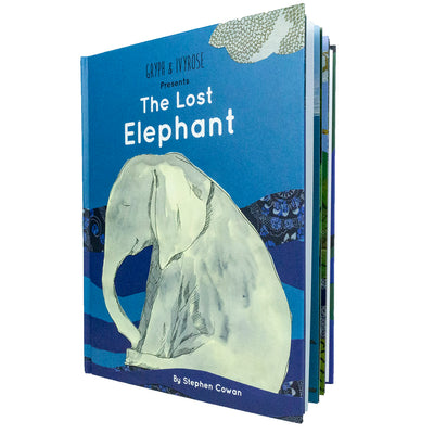 The Lost Elephant Kids Book by Pediatrician Stephen Cowan open view