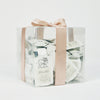 25 10 ml sample packets of That's a Wrap natural body was for sensitive skin