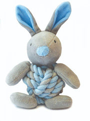 knottie blue bunny puppy dog toy