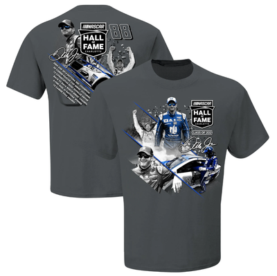 Dale Earnhardt Jr. JR Motorsports Official Team Apparel NASCAR Hall of Fame Class of 2021 Graphic 2-Spot T-Shirt - Charcoal