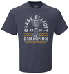 Chase Elliott 2020 NASCAR Cup Series Champion Vintage Trophy T-Shirt - Heather Navy