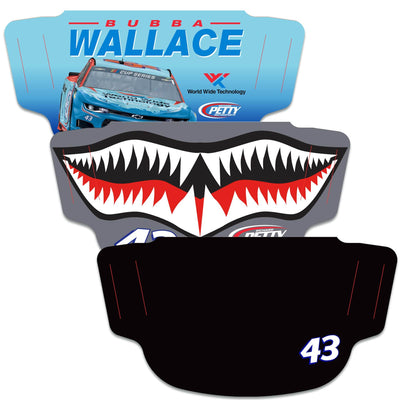 Bubba Wallace WinCraft Adult Face Covering 3-Pack - MADE IN USA