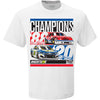 Chase + Bill Elliott - Family Champ T-Shirt - White