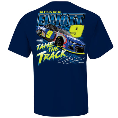 Chase Elliott NAPA Darlington Throwback T-Shirt - Navy