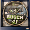 Kurt Busch Chrome Clock