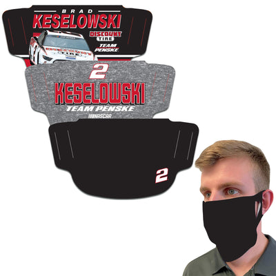 Brad Keselowski WinCraft Adult Face Covering 3-Pack - MADE IN USA