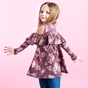 Sweet Rose Cold Shoulder Top