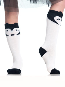 Heart Face Panda Socks
