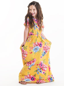 Summer Bloom Maxi Dress with Hidden Pockets