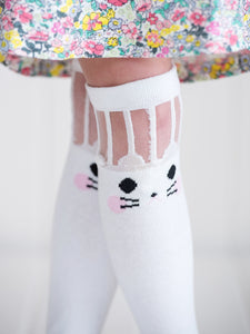 White Rabbit Mesh Socks