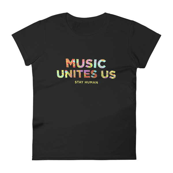 Michael Franti - Music Unites Us Ladies T-Shirt