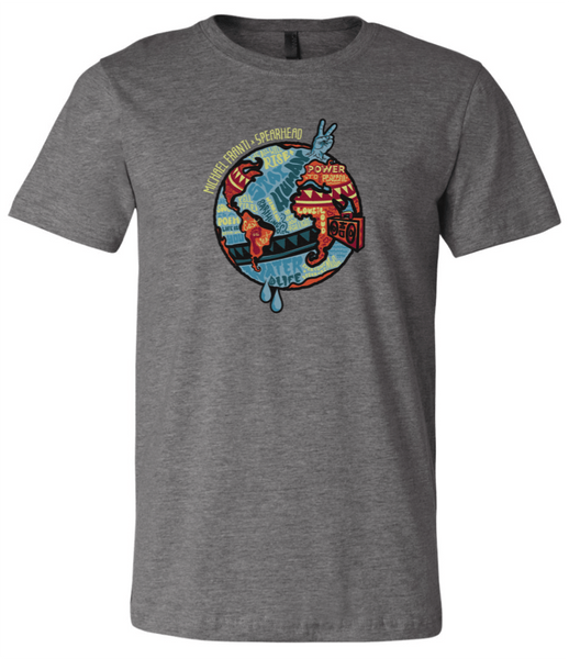 Michael Franti - Grey Globe 2017 Tour Unisex T-Shirt