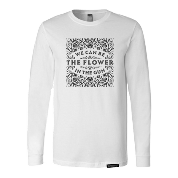 Michael Franti - Flower In The Gun Unisex Longsleeve