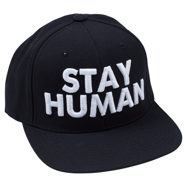 Michael Franti - Stay Human Black Snapback Hat