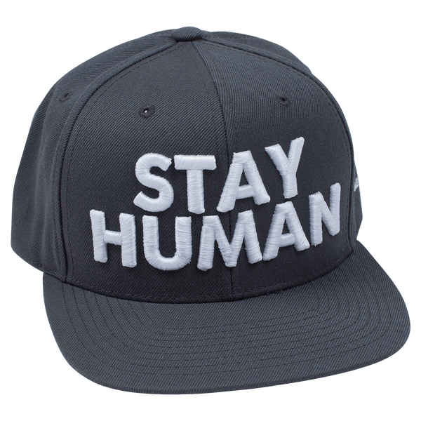 Michael Franti - Stay Human Grey Snapback Hat