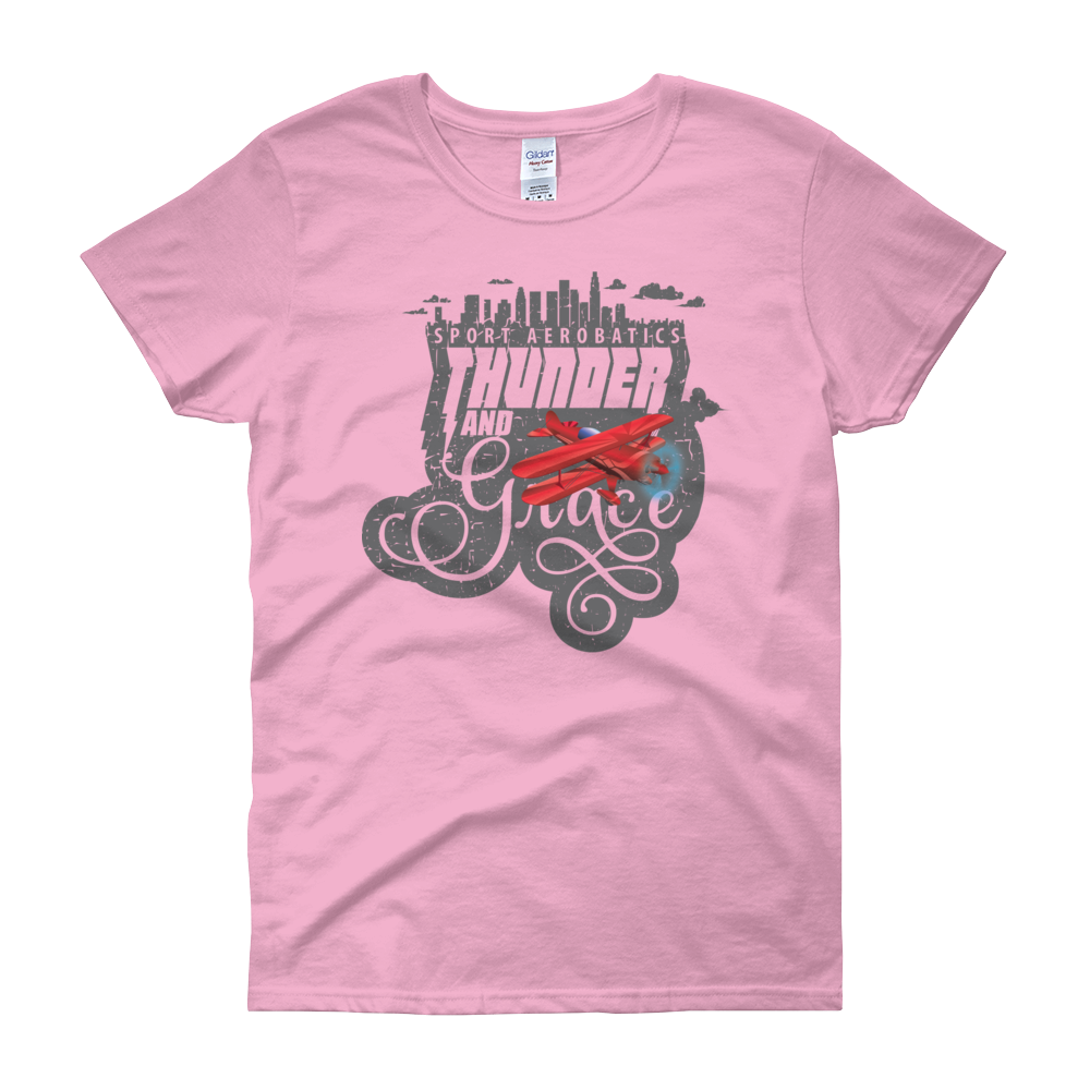 "Ladies' Aerobatics ""Thunder and Grace"" T-shirt FREE SHIPPING!"