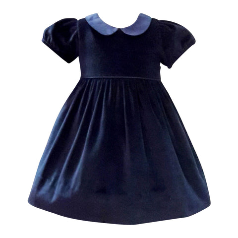 Navy velvet holiday dress