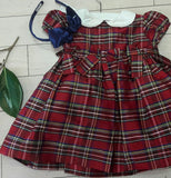 Plaid silk Holiday Dress