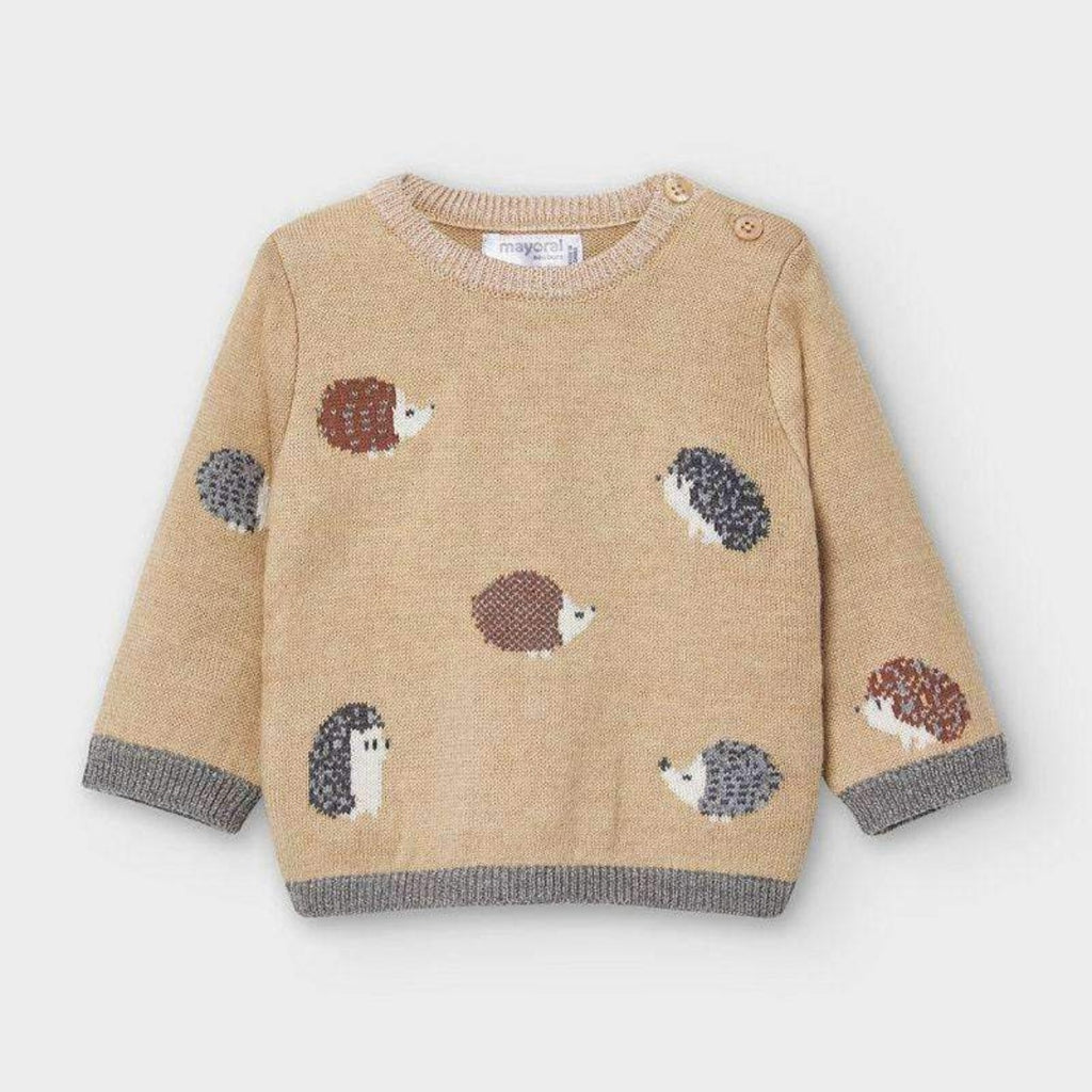 Brown Hedgehog Sweater with Matching Gray Pants