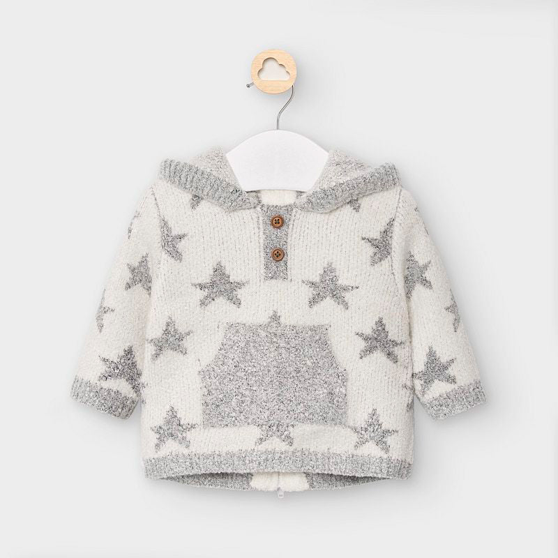 Adrian East online Hooded Knit Star Sweater Jacket