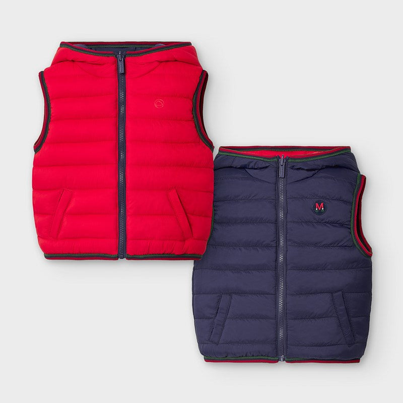 Reversible Red & Navy Vest