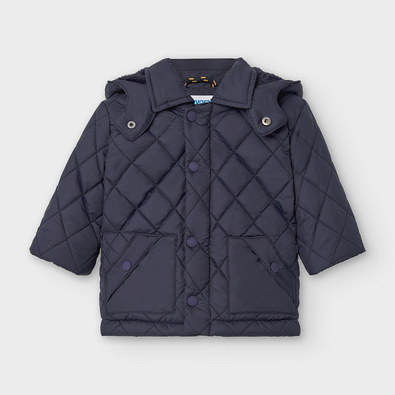 Adrian East online Boy Quilted Zip-Up Navy Jacket